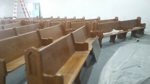 12 Foot Solid Wood Church Pews