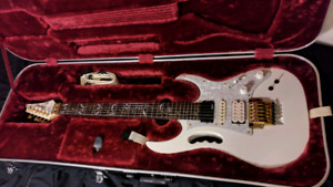 Ibanez JEM7V 2005 White with Fernandes sustainer mod