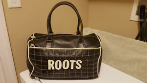 Women's Roots Black Weekender/Duffle Bag - New With Tags