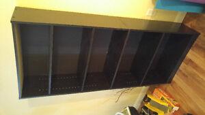 Black 5-Section Bookshelf/Display Cabinet Excellent Shape New