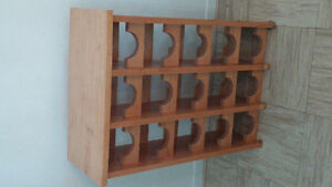 Cellier à vin en bois pour 15 bouteilles