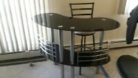 For Sale - Glass Top Bar with 3 Stools