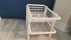Various baskets/shelves/containers/storage units