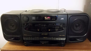 Vintage JVC 1990's stereo system boombox tape CD radio