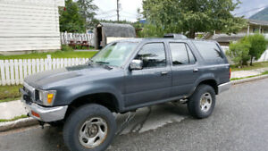 **$750**Reduced For Quick Sale**   1991 Toyota 4Runner