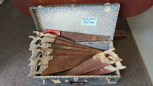 Old & Rusty Wooden Hand Saws