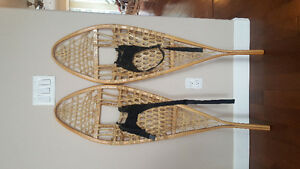 Mint condition hand made snow shoes
