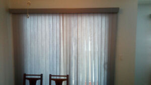 Patio and living room vertical blinds $50 each or both for $90