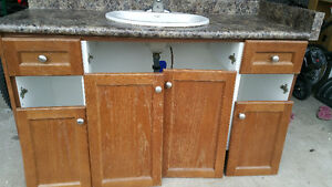 Bathroom vanity with sink and Faucet.size 55''.