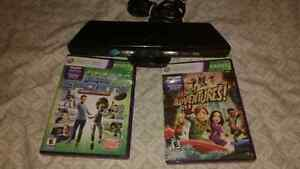 Xbox 360 kinect w/ games