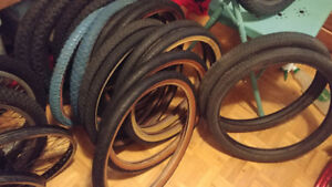 Mostly Old School BMX tires lot