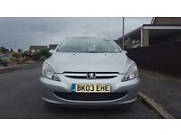 03 plate Peugeot 307 hdi with mot