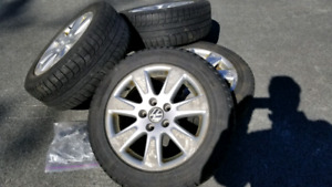 """VW 16"""" Alloys with winter tires"""
