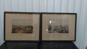 Pair of Old Prints Hunting/Coursing No.1 and No.2,Both Framed