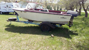 For sale 14 ft boat and 33 h evinrude