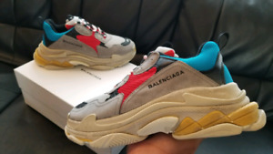 BALENCIAGA TRIPLE S SIZE 44 SNEAKER RARE BRAND NEW IN BOX AUTHEN