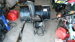 Lawn Tractor with Snow Blower, Canopy, bumper w Wheel weights