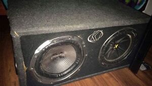 Two 10 inch subs