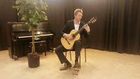 Classically trained guitarist offering lessons
