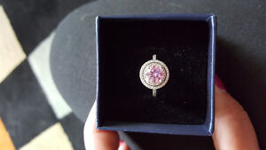 Pink and diamonelle ring purchased from shopping channel.