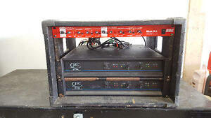 Powe Amp Rack with X-Over and Patch Bay