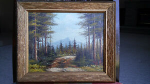 Listed English artist BOYD McNEILL landscape oil painting