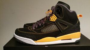 Jordan Spizike Black and University Gold. Size 8.5. (Nike)