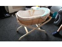 Mothercare Moses basket and mothercare stand