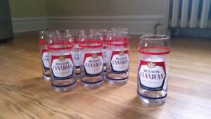 8 Molson Canadian Beer Glasses
