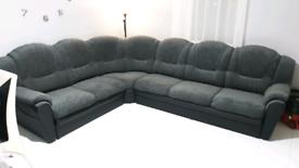 Corner sofa fabric / leather