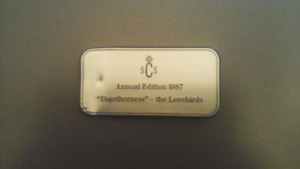 SWAROVSKI  1987 LOVEBIRDS   PLAQUE - RARE FIND!!!