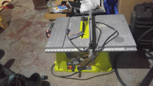 Table saw used for one project