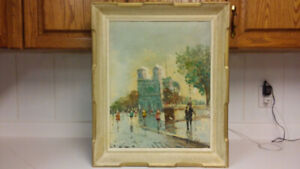 Antique listed Italian artist A.DeVity oil painting