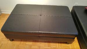 Black Ottoman w/storage - Like New!