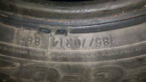 4 pneus hiver winter Tires 185/70R14