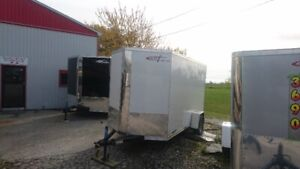NEW CROSS 6X12 WHITE ENCLOSED CARGO TRAILER