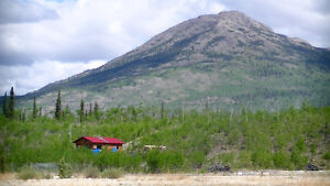 Log home on 35 acres in Canyon Creek KM 1546.5 Alaska Highway
