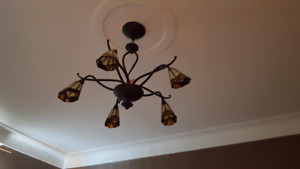 4 luminaires style vitrail/ceiling lights stained glass style