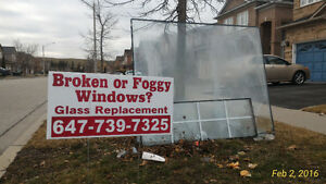 We Replace Foggy Broken Moisture GLASS in all windows
