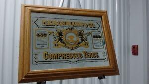Vintage Wall Mirror Adverti. FLEISCHMANN & CO., COMPRESSED YEAST