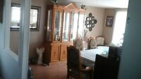 Cabinet and Table for sale