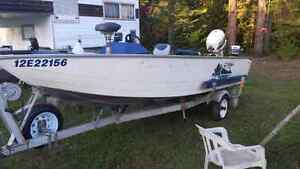 16 ft Prince craft boat and motor