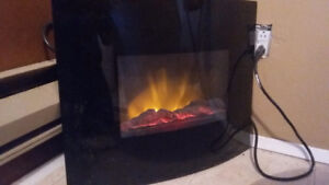 Glass front, fireplace heater
