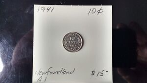 1941 Newfoundland 10 cent pieces