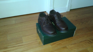 BROWN LEATHER TIMBERLAND MEN'S SHOES 10.5M
