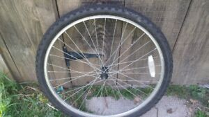 """26"""" Front Bike Rim Tire and Tube"""