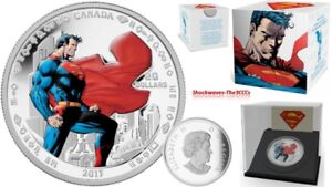 2013 Silver $20 Superman MAN OF STEEL 1 oz Coin 75th Anniversary