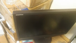 "Like new 19"" Emachines widescreen monitor"