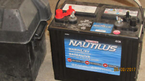 Marine/RV battery and case