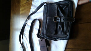 Roots  Black Leather Purse- New With Tags
